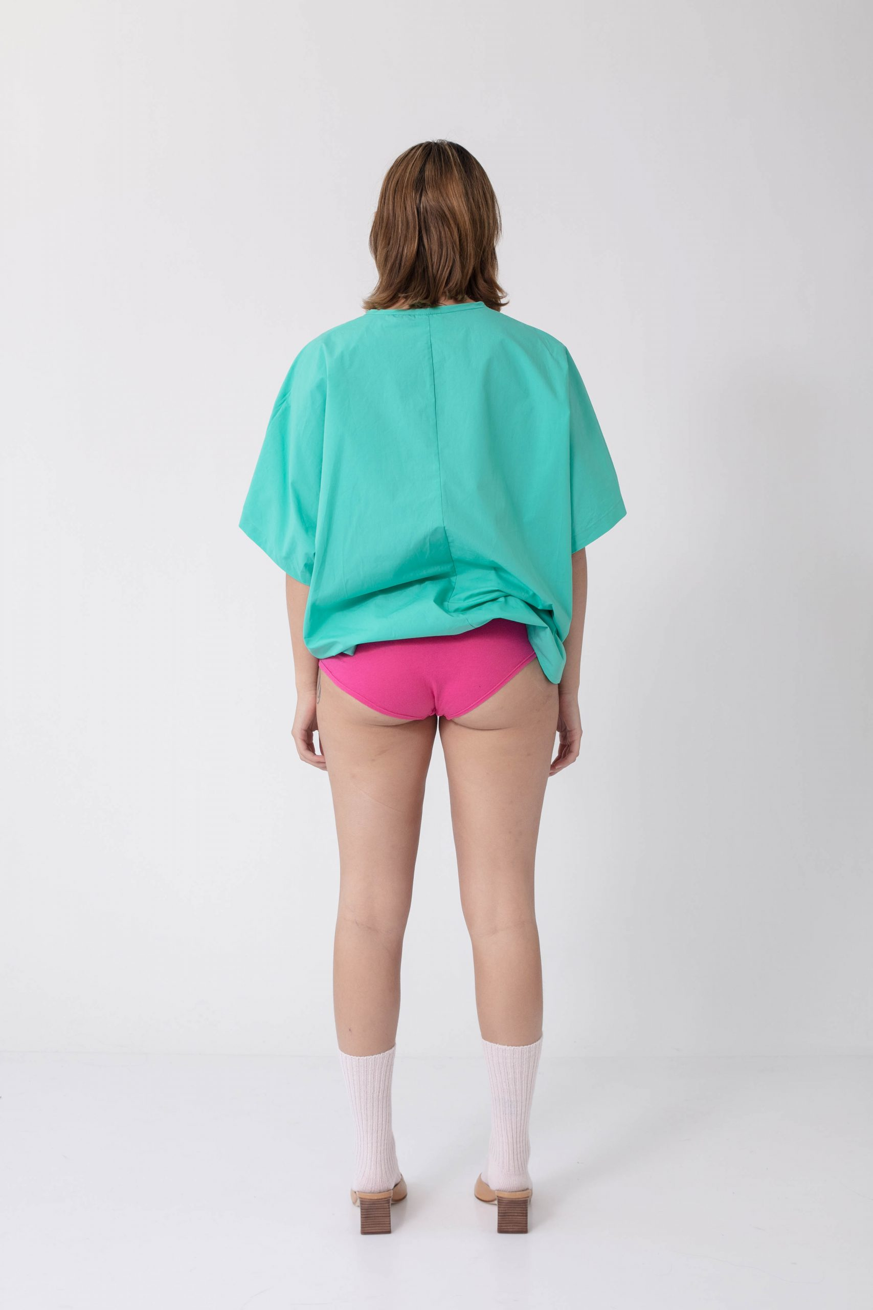 Green woven shirt