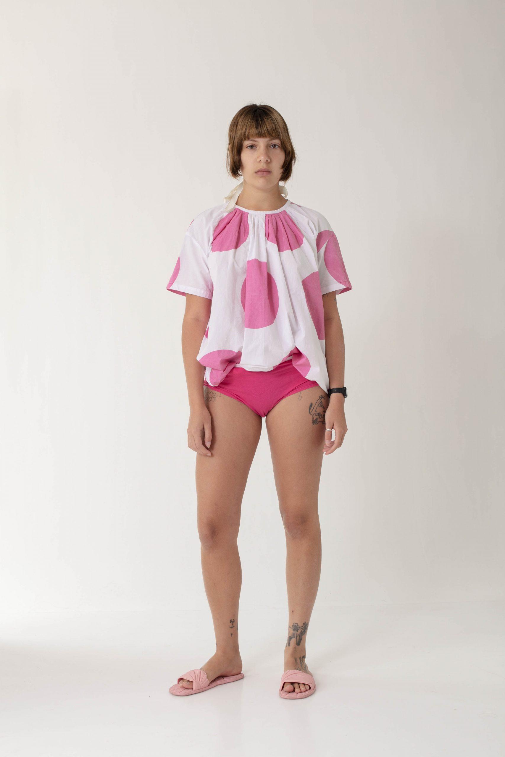 Pink circles shirt